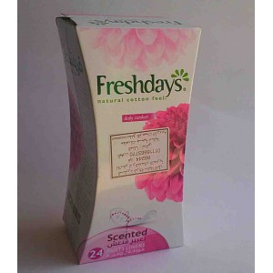 freshdays natural cotton feel scented 24 pcs