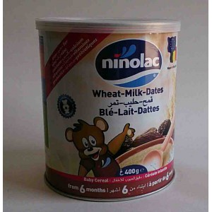 ninolac wheat - milk - dates 400 g