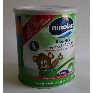 ninolac rice milk baby from 6 months 400 g