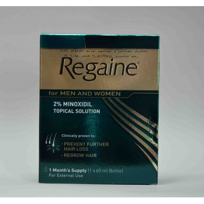 Regaine 2% minoxidil for men and women topical solution 60 ml
