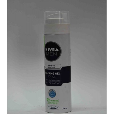 NIVEA MEN shaving gel 0 % alcohol 200 ml