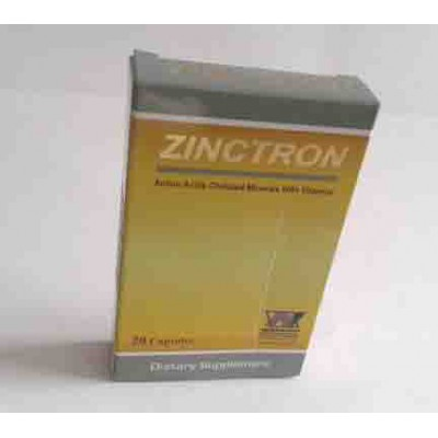 ZINCTRON 20 capsules (  Each tablet contains Zinc 11 mg Copper 0.9 mg Vitamin C 75 mg Vitamin B6 1.3 mg Citrus Bioflavonoids 150 mg  )