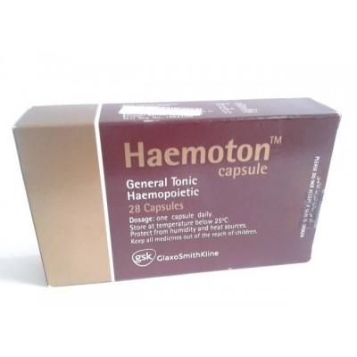 Haemoton 28 capsules ( ferrous fumarate - vit. B12 - folic acid - Ascorbic acid - Manganese sulfate - copper sulfate )