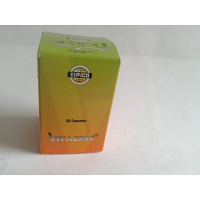 VITAZINC 30 capsules ( zinc gluconate 175 mg - vitamin A 50000 I.U. - vitamin 100 mg )