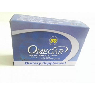OMEGAR 30 capsules ( fish oil - garlic oil )