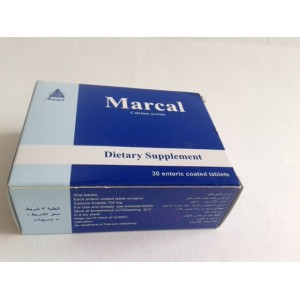 Marcal 30 tablets ( calcium acetate )