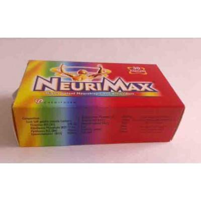 NEURIMAX 30 Capsules ( vit. B1 , B2 , B6 , B12 , C , E - zinc - selenium - folic acid - betacarotene plamitate )