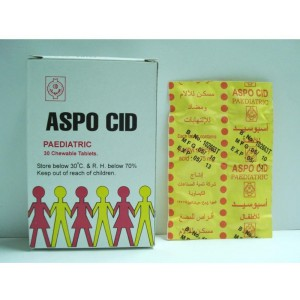 ASPOCID PAEDIATRIC 75 MG 30 CHEWABLE TAB