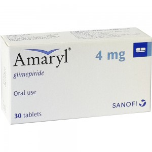 Amaryl ( glimepiride ) 4 mg 30 tablets