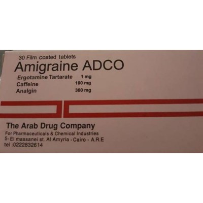 AMIGRAINE ADCO 30 TAB
