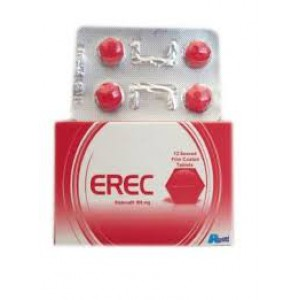 Erec 100 mg ( Sildenafil ) 12 film-coated tablets
