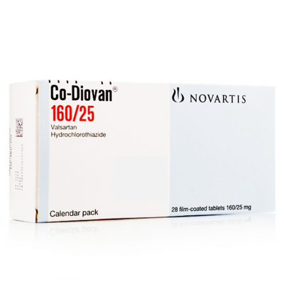 CO - DIOVAN 160 / 25 MG ( VALSARTAN + HYDROCHLOROTHIAZIDE ) 28 FILM-COATED TABLETS