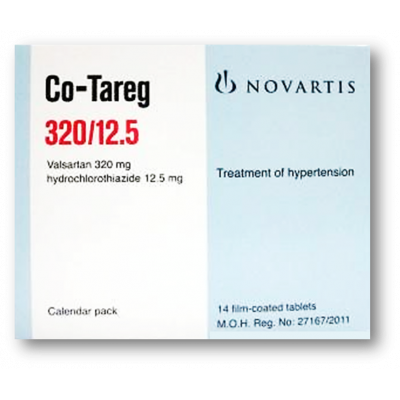 CO - TAREG 320  / 12.5 MG ( VALSARTAN + HYDROCHLOROTHIAZIDE ) 14 FILM-COATED