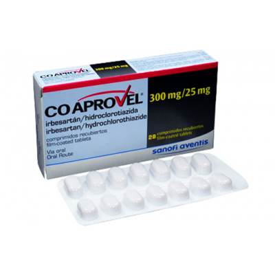 COAPROVEL 300 / 25 MG ( IRBESARTANB + HYDROCHLOROTHIAZIDE ) 14 TABLETS