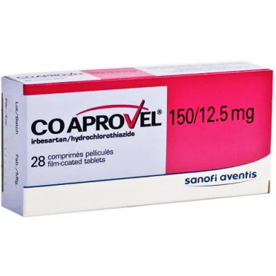 COAPROVEL 150 / 12.5 MG ( IRBESARTANB + HYDROCHLOROTHIAZIDE ) 14 TABLETS