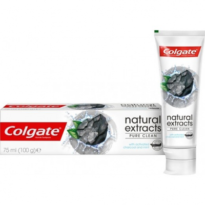 COLGATE NATURAL EXTRACTS PURE CLEAN TOOTHPASTE WITH ACTIVATED CHARCOAL AND MINT 70 ML