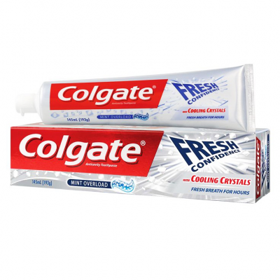 COLGATE FRESH CONFIDENCE FLUORIDE TOOTHPASTE COOLING CRYSTALS 125 ML