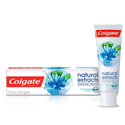 COLGATE NATURAL EXTRACTS RADIANT WHITE TOOTHPASTE WITH SEAWEED AND SALT 70 ML