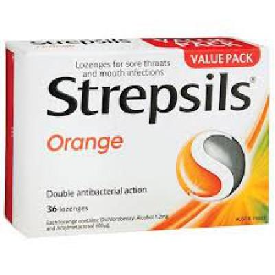 STREPSILS orange with vitamin c 100mg  16 lozenges