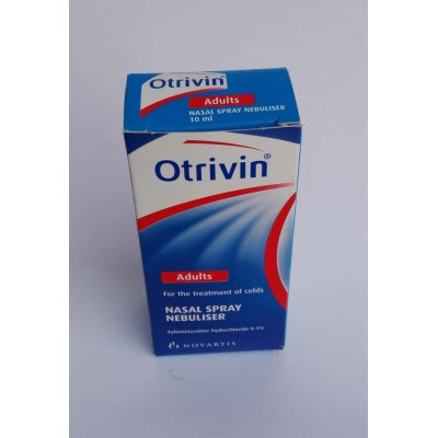 Otrrivin ( xylometazoline hydrochloride 0.1 % ) nasal drops fpr treatment of colds