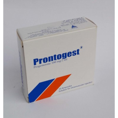 Prontogest ( prongestrone 100 mg / 2 ml ) 10 ampoules for IV injection
