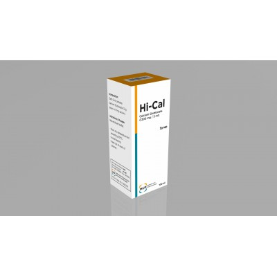 Hi-cal ( calcium glubionate 1200 mg / 5 ml ) syrup 100 ml
