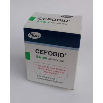 CEFOBID ( cefoperazone 0.5 gm ) for IV or IM injection