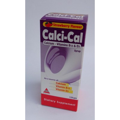 Calci-Cal ( calcium - vitamin B12 & D3 ) syrup 120 gm