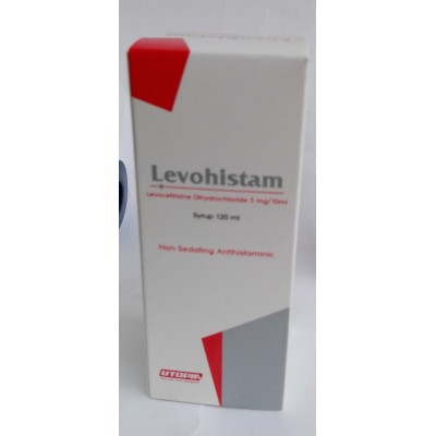 LEVCET ( levocetirizine dihydrochloride 2.5 mg / 5 ml ) non -sedating antiallergic suspension 120 ,l
