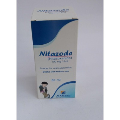 Nitazode ( nitazoxadine 100 mg / 5 ml  ) powder for oral suspension 60 ml