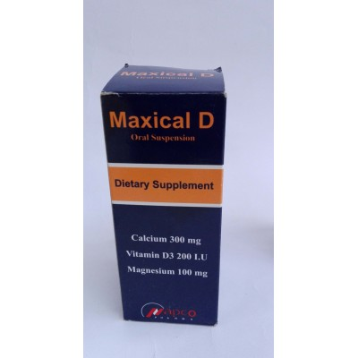 Maxical D ( calcium carbonate + vitamin D3 + magnesium carbonate ) oral suspesion 120 ml