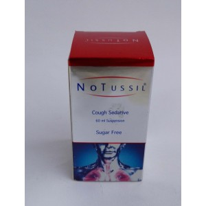 Notussil ( cloperastine HCl 20 mg ) 60 ml suspension cough sedative
