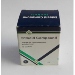 Entocid compound powder for oral suspension antidiarrheal 15 sachets