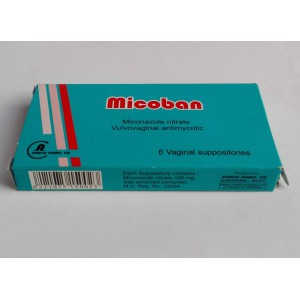 micoban ( miconazole nitrate ) 6 vaginal suppositories