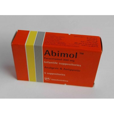 Abimol ( paracetamol 300 mg ) infant suppositories 5 suppositories