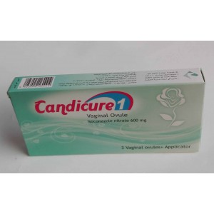 Candicure 1 ( Isoconazole nitrate 600 mg ) 3 vaginal ovules + applicator
