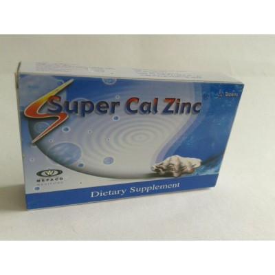 Super cal zinc 20 tablets calcium carbonate - magnesium oxide - zinc sulfate heptahydrate