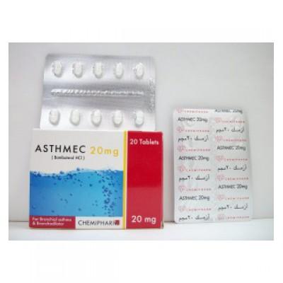 ASTHMEC ( bambuterol HCl ) 20 mg 20 tablets