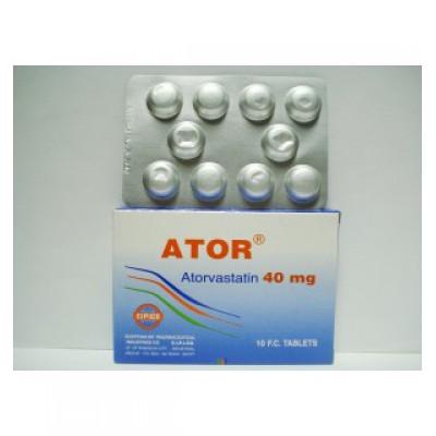 ATOR ( atorvastatin 40 mg ) 10 film coated tablets