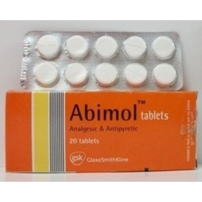 Abimol ( parecetamol 500 mg ) 20 tablets