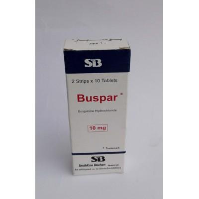 Buspar ( buspirone Hydrochloride 10 mg ) 20 tablets