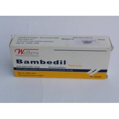 Bambedil ( bambuterol hydrochloride 10 mg ) 30 tablets
