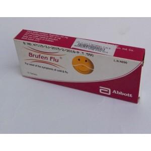 Brufen Flu ( ibuprofen 200 mg + pseudoephedrine HCl 30 mg ) 10 tablets