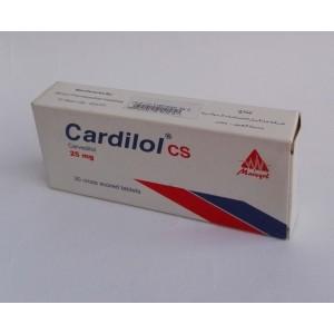 Cardilol cs ( Carvidilol 25 mg ) 30 cross scored tablets