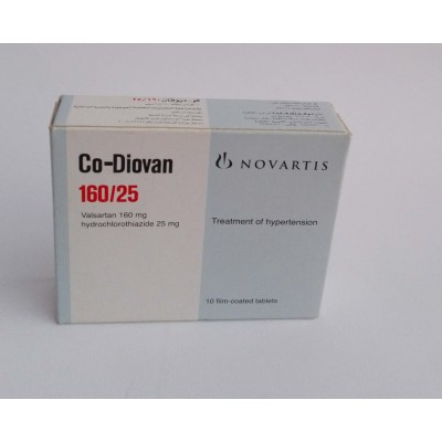 Co-Diovan ( valsartan 160 mg + hydrochlorothiazide 25 mg ) 10 film -coated tablets