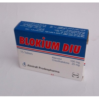 BLOKIUM DIU ( atenolol + chlorthalidone ) 15 tablets