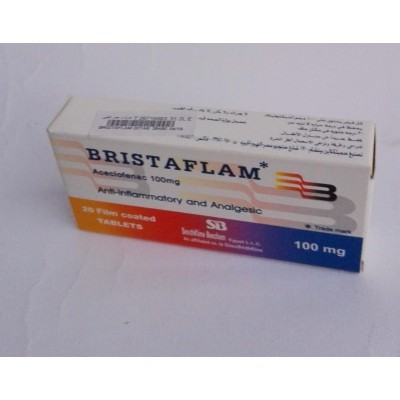 BRISTAFLAM ( aceclofenac 100 mg ) 20 film coated tablets