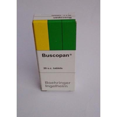 Buscopan ( Hyoscin -N- butylbromide ) 20 tablets