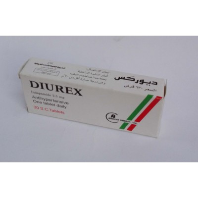DIUREX ( Indapamide 2.5 mg ) 30 capsules