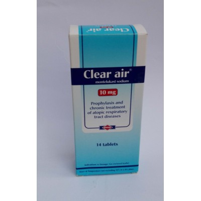 Clear air ( monteluukast sodium 10 mg ) 14 tablets